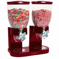 Zevro GAT203 Indispensable Dual-Canister Dry-Food Dispenser, Red:Amazon:Kitchen & Dining