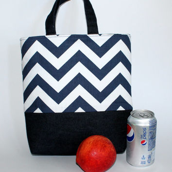 Lunch bag, insulated bag, lunch purse, lunch cooler, lunch tote, fabric lunch bag.