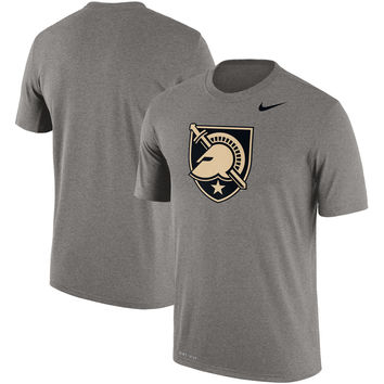 Army Black Knights Nike Legend School Logo Performance T-Shirt - Gray
