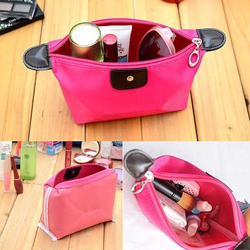 Small Travel Necessaries Necessaire For Women Make Up Makeup Cosmetic Bag In Purse Organizer Beauty Case Pouch Vanity Brush Pack