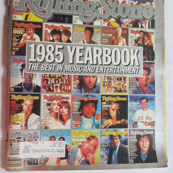 1985 Yearbook Rolling Stone Magazine Special Double Issue Rock n Roll History Music Room Decor
