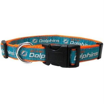 DCCKT9W Miami Dolphins Pet Collar