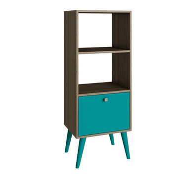 Sami Double Bookcase Oak/ Aqua
