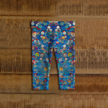 Buttons in Blue, Baby Leggings, baby girl gift, baby clothing, baby shower, baby leggins