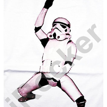 Stormtrooper Shirt Star Wars Rocker 3/4 Sleeve Raglan Baseball Jersey T Shirts Raglan Long Sleeved Unisex Body Fit Size XS S