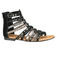 drea gladiator sandal in black