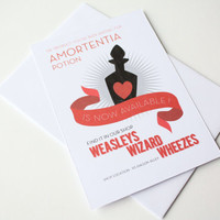 Harry Potter Card Love Potion card Amortentia potion is now available at weasleys wizard wheezes
