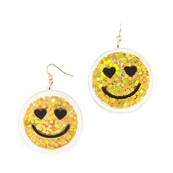Happy Face Drop Earrings
