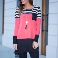 Best Of Both Worlds Tunic, Pink