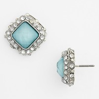 BP. Rhinestone Frame Post Earrings (Juniors) | Nordstrom
