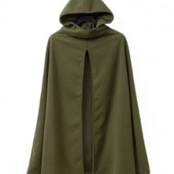 Hooded Cloak Dust Coat