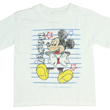 Disney T Shirt Mickey Mouse Color Sketch Cartoon Toddler Tee