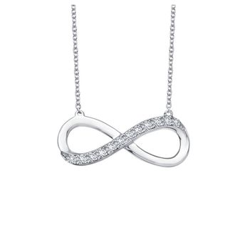 Lafonn Classic Sterling Silver Platinum Plated Lassire Simulated Diamond Necklace (0.24 CTTW)