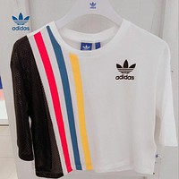 """Adidas""Loose Short Sleeve T-Shirt Tops"