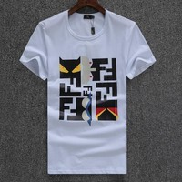 Fendi Fashion Casual Shirt Top Tee-3