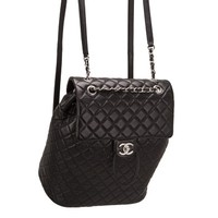 Chanel Urban Spirit Black Quilted Lambskin Large Backpack