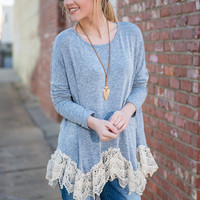 Waves Of Love Top, Blue