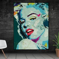 Wall Art Picture prints Marilyn Monroe on canvas home decor Canvas painting Wall poster decoration for living room no frame