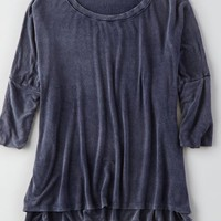AEO Women's Don't Ask Why Drapey T-shirt