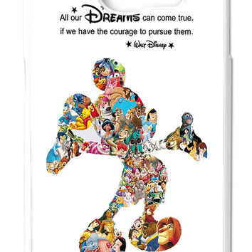 Disney Montage Disney Mickey Mouse Collage Samsung Galaxy S6 Cases - Hard Plastic, Rubber Case