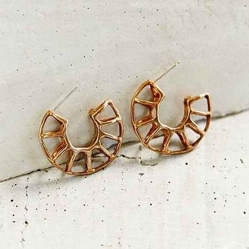 Better Late Than Never Minor Arc Hoop Earring