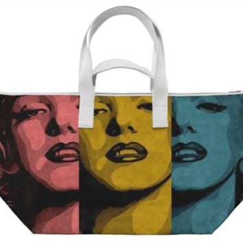 Marilyn Pop Grunge Weekender Bag