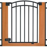 Summer Infant Wood and Metal Walk-Thru Gate, Brown/Black