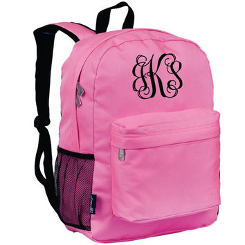 Monogram Backpack and Lunch Bag Set - Wildkin - Personalized - Pink  - Back to School Crackerjack