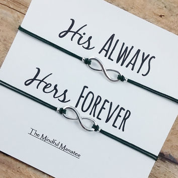 His and Hers Infinity Bracelets | Infinity Bracelet Set | Silver Infinity Bracelets | Gift for Him | Gift for Her