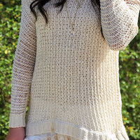 Visions Of Love Natural Tunic Sweater
