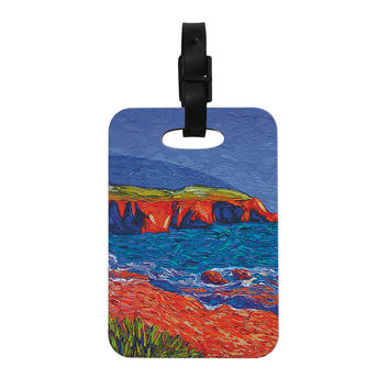 "Jeff Ferst ""Sea Shore"" Coastal Painting Decorative Luggage Tag"