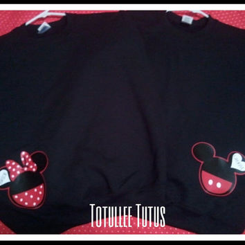 2 Day Priority Shipping SALE Bride and Groom Disney Inspired Couples Sweatshirt in Black