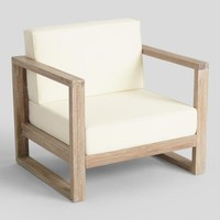 Whitewash Sevilla Outdoor Occasional Armchair