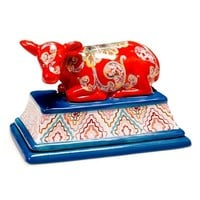 Tracy Porter For Poetic Wanderlust 'French Meadows - 3D Cow' Butter Dish