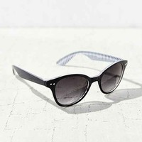 Inner Stripe Square Sunglasses- Black Multi One