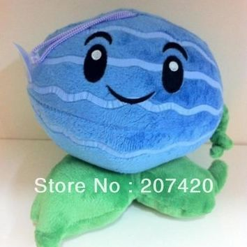 free shipping cute child gift plant vs zombies Ice watermelon plush toys,6inch/15cm,1pcs/pack