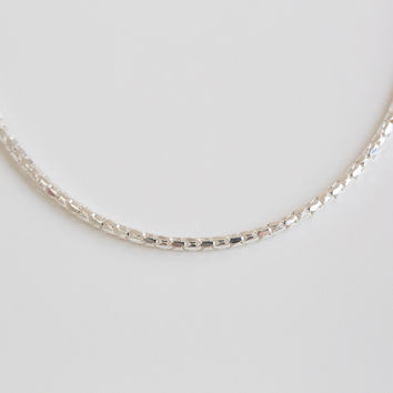 925 simple circular necklace