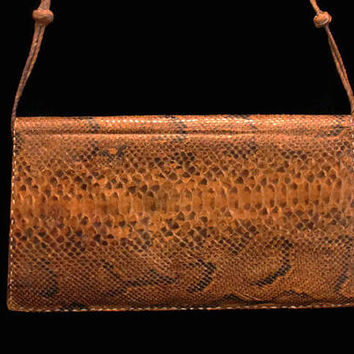 Snake Skin Clutch Purse, Shoulder Bag