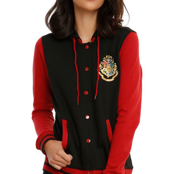 Harry Potter Hogwarts Crest Girls Varsity Jacket