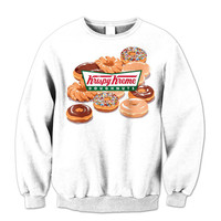 New Krispy Kreme Sweatshirt Logo Clothing New Donuts