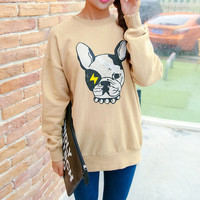 Dog Print Sweatshirt