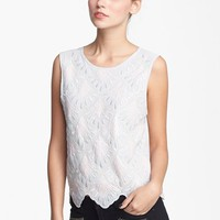 Paper Crane Embroidered Sequin Tank (Juniors) | Nordstrom