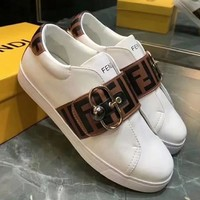 GUCCI Old Skool Women Fashion Leather Flats Shoes