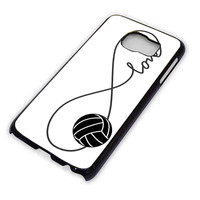 Infinity Love Volleyball Sports For Samsung Galaxy S6 Case **