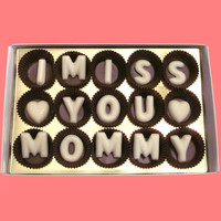 I Miss You Mommy Large White Chocolate Letters