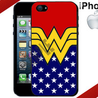 Apple iPhone 5 Case - Classic Wonder Woman Inspired - iPhone 4 Case or iPhone 5 Case - Hard Cover Case