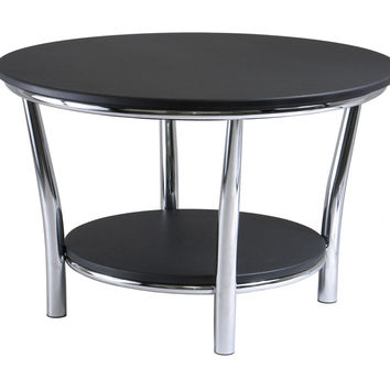 Maya Round Coffee Table with Black Top