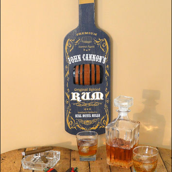 Personalized Rum Bottle Shaped Sign