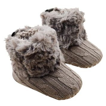 Baby Girl's Fall/Winter Fur Boots