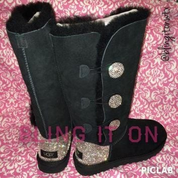 DCCK8X2 Blinged Ugg boots